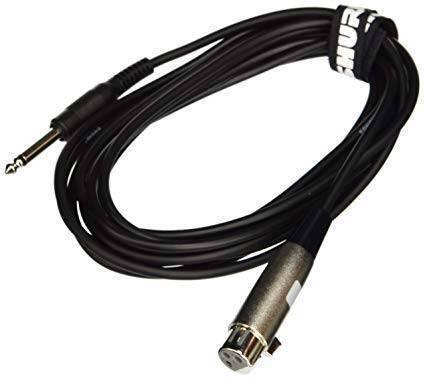 """Cable Hi-Flex, 4.6m, con conectores XLR hembra y Plug 1/4""""."""
