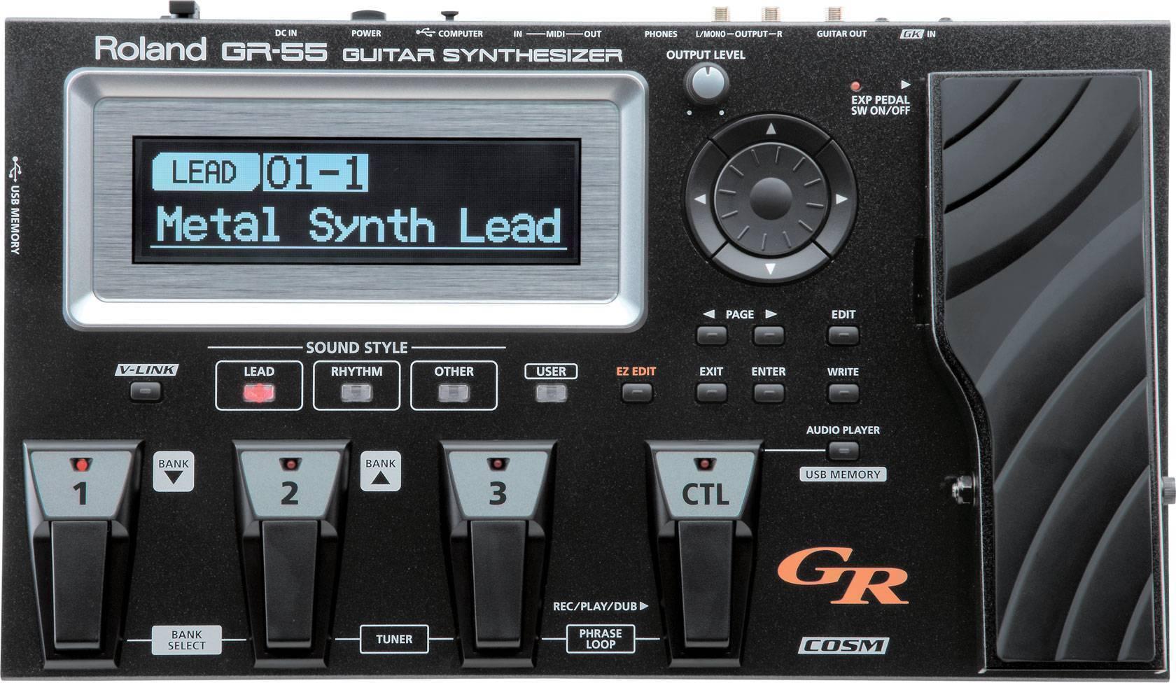Pedalera Sintetizador Roland GR-55 con pastilla GK