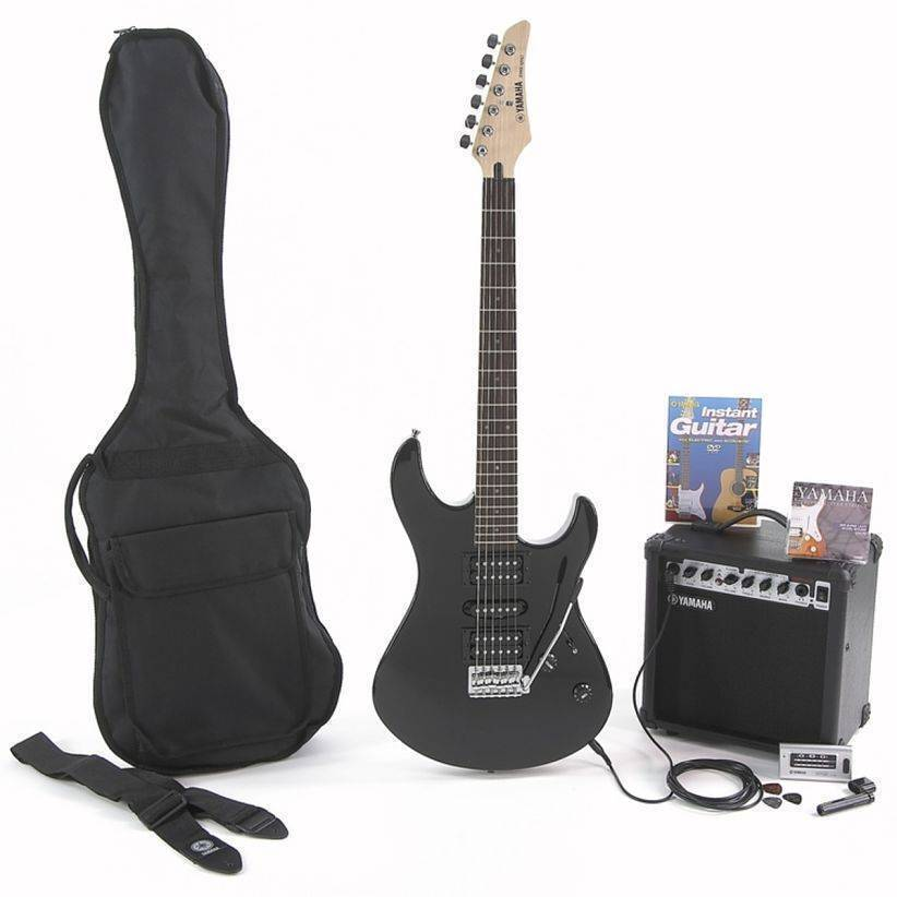 Paquete Guitarra Electrica ERG121GPIIBL Negra