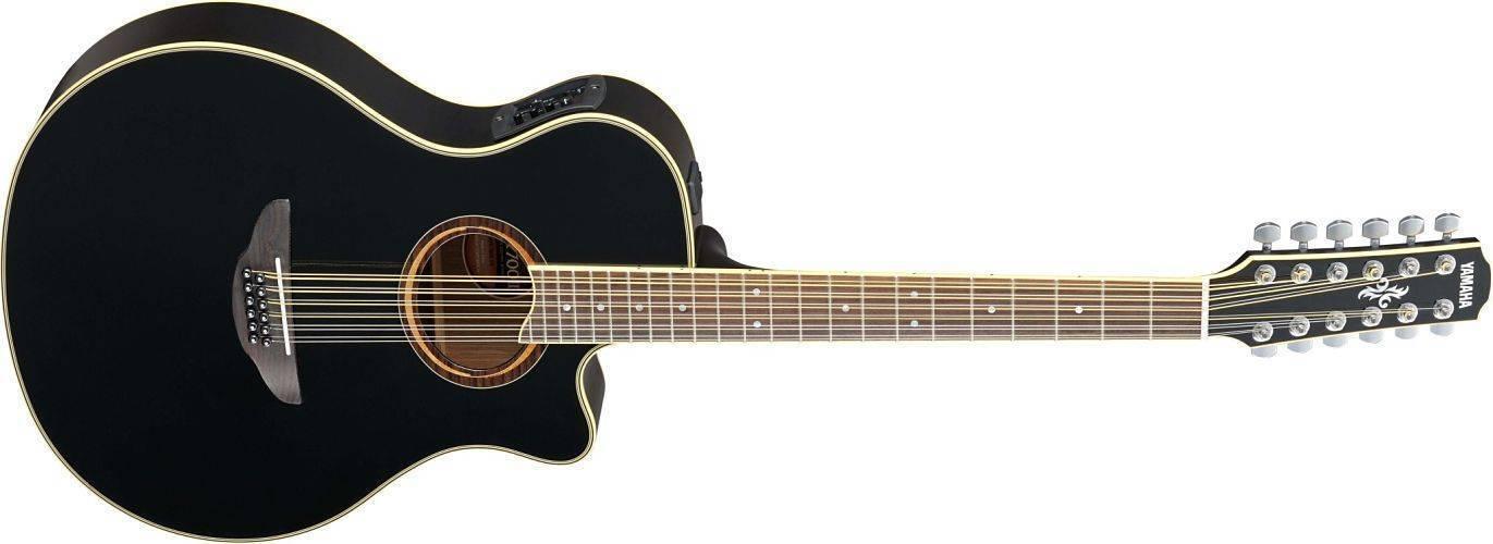 Guitarra Electroacústica Yamaha APX700 12 Cuerdas De Acero Negra