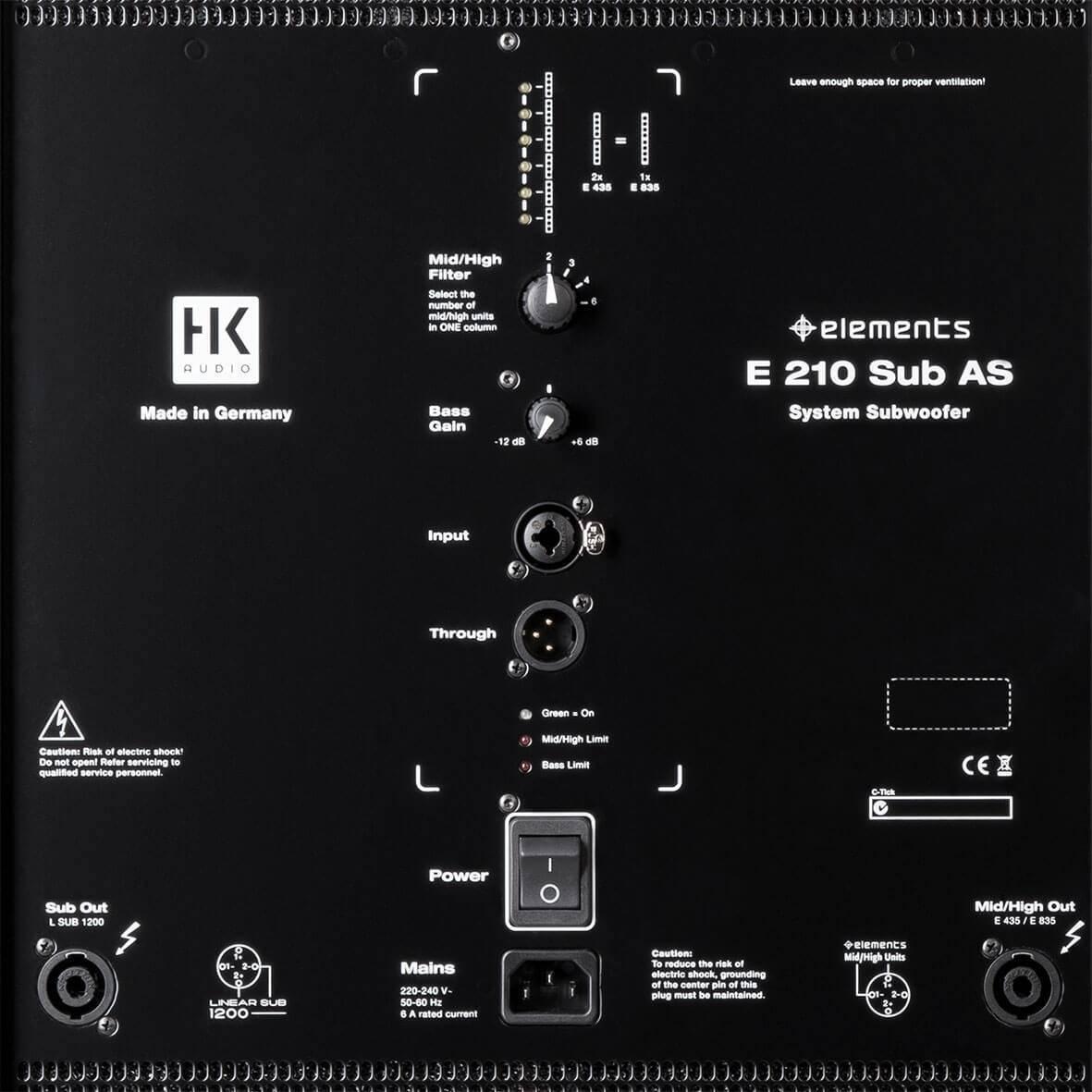 Elements HK E 210 SUB AS