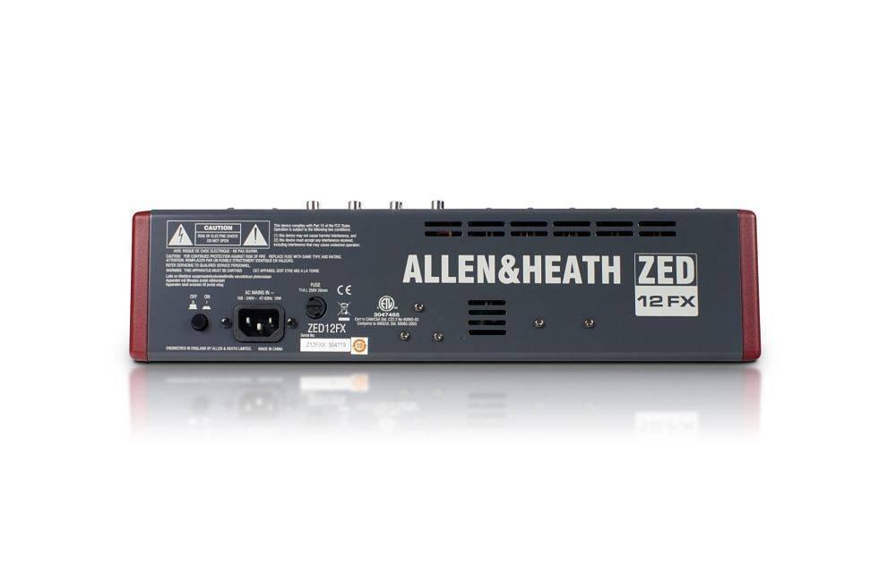 Mezcladora Allen and Heath ZED-12FX