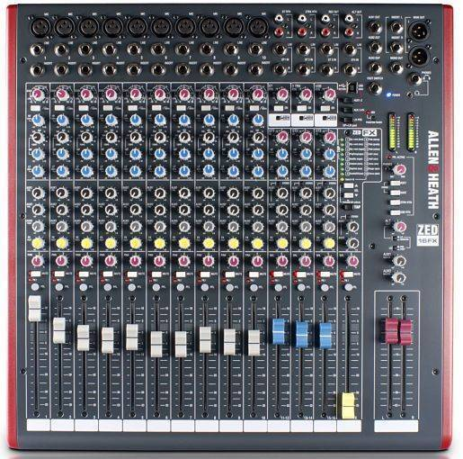 Mezcladora Allen and Heath ZED-16FX
