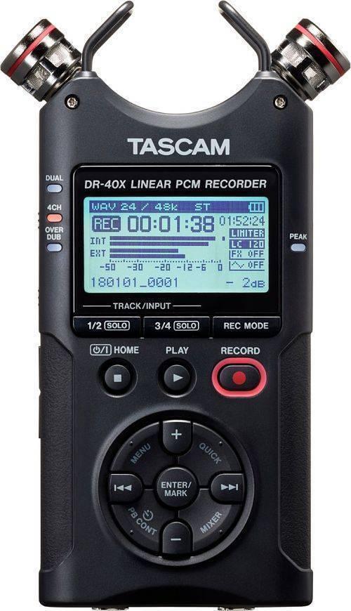 Grabadora Portatil Tascam DR-40X