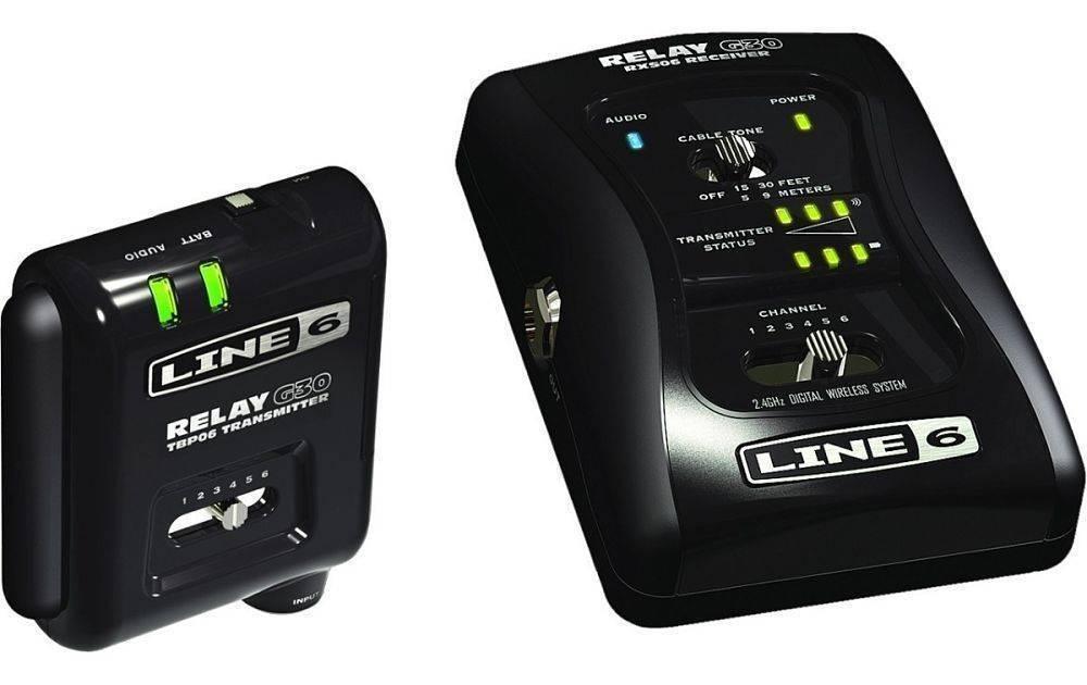 Sistema inalámbrico Relay G30 en pedal para guitarra o bajo
