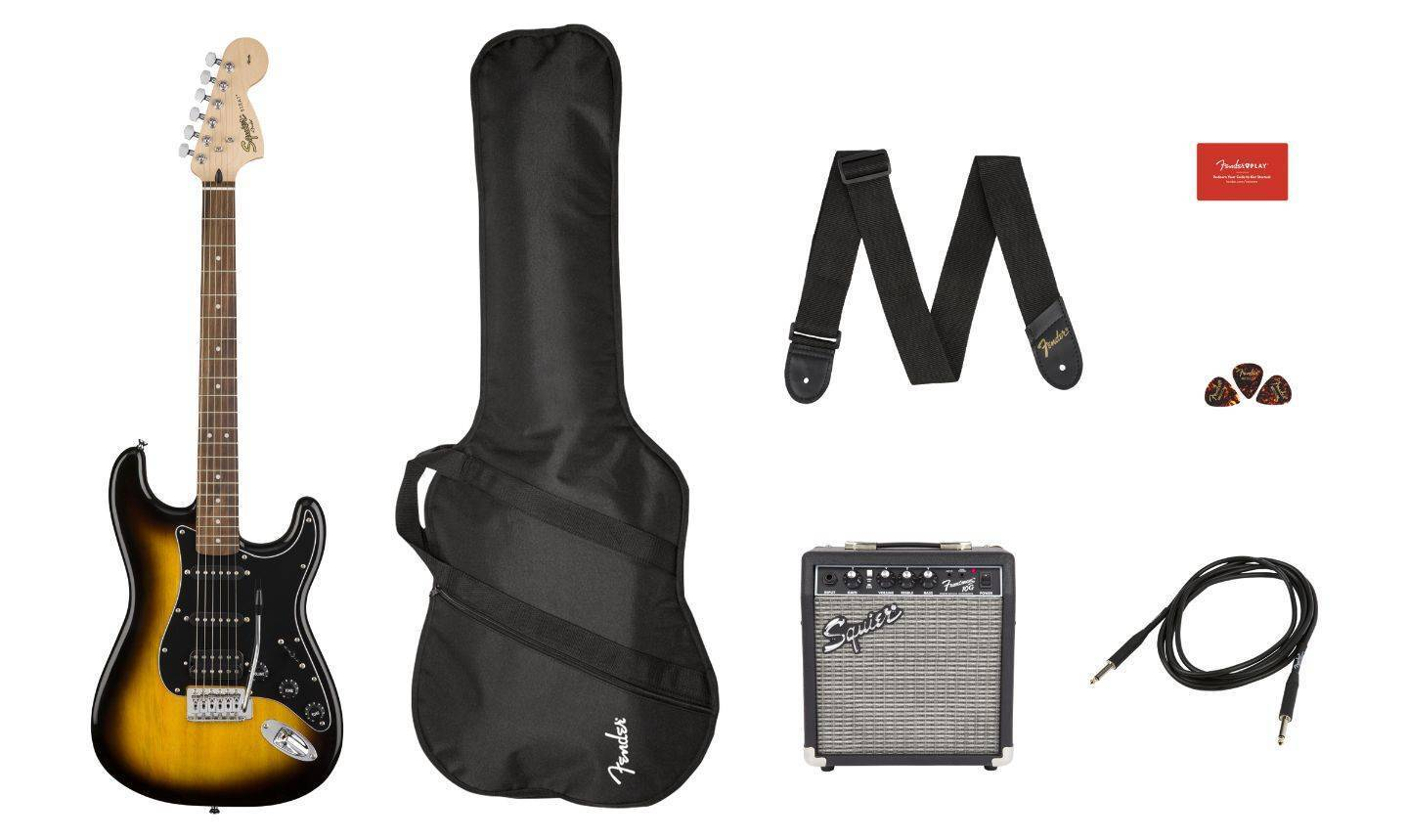 Paquete Guitarra Electrica FENDER AFFINITY SERIES STRATOCASTER HSS PACK
