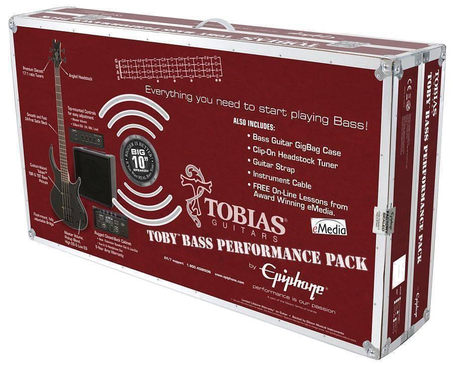 Paquete Epiphone de Bajo Electrico Toby