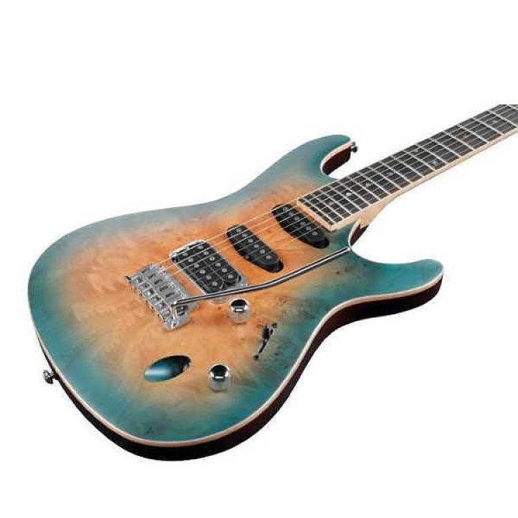 """Guitarra Electrica Ibanez """"SA"""" Natural Sombreado Azul"""