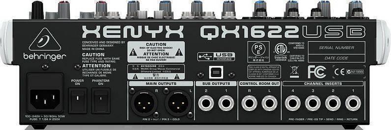 Mezcladora Behringer QX1602USB