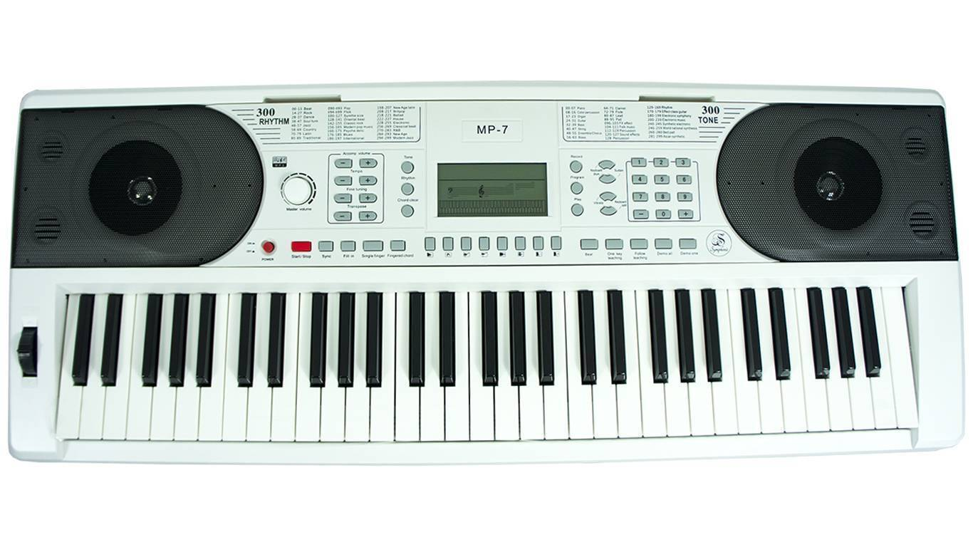 Teclado Symphonic MP-7 Blanco Estudiante Intermedio