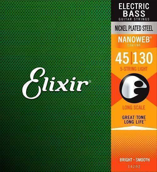 Juego de cuerdas Elixir para Bajo 5 Cuerdas (.045-.130)