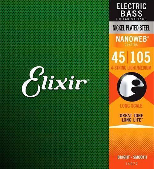 Juego de cuerdas Elixir para Bajo 4 cuerdas (.045-.105)