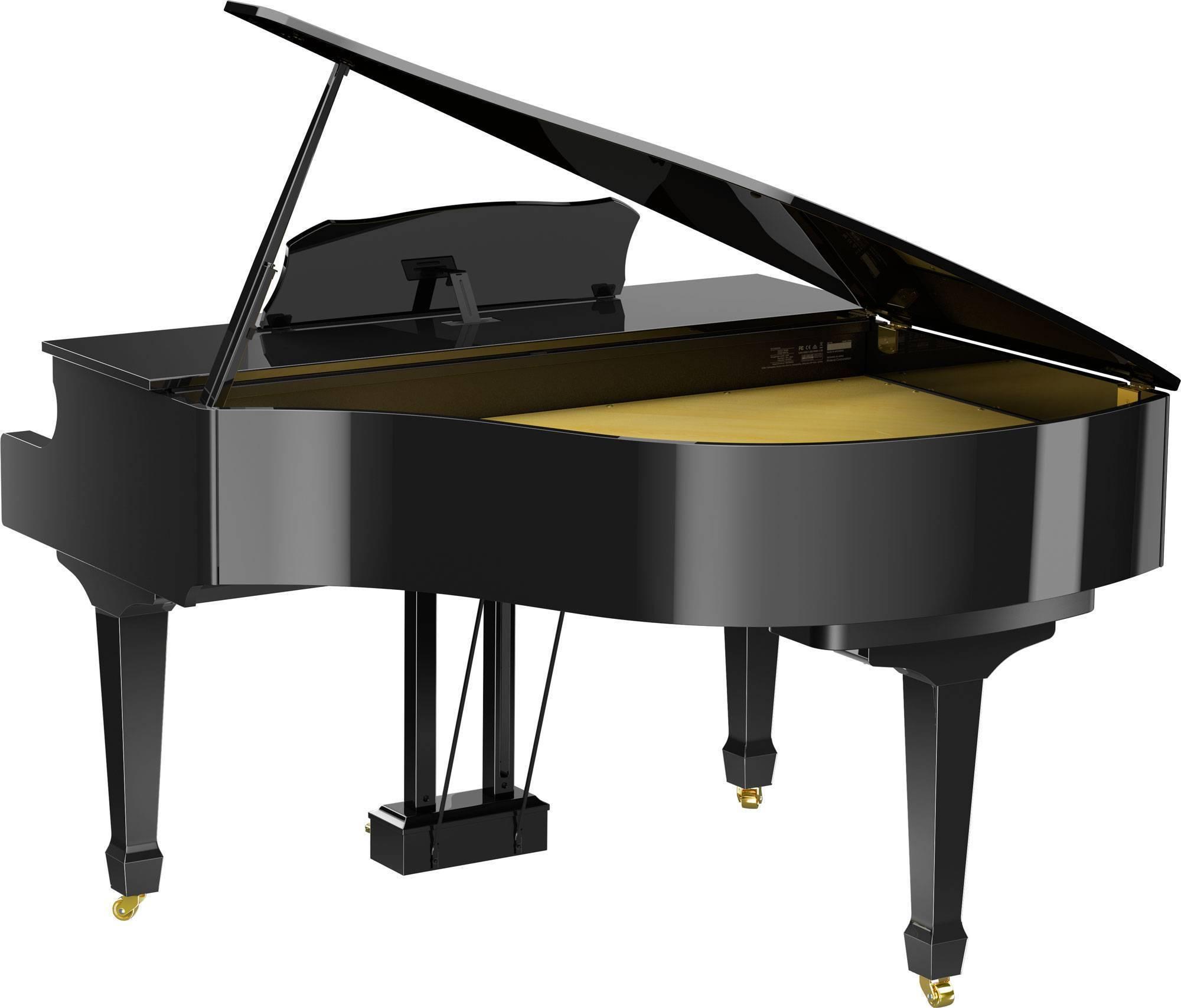 Gran Piano Digital Clásico 1.5 M De Largo C/Bluetooth Imitacion Marfil Color Negro