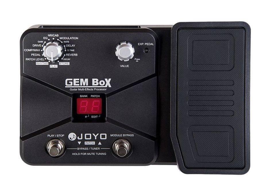 Pedalera Joyo para guitarra GEM BOX 60 efectos