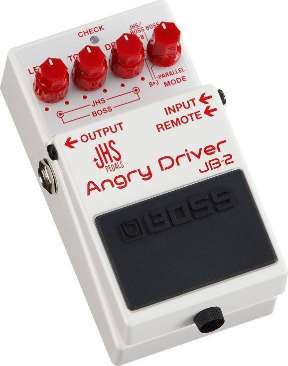 Pedal Boss y JHS efecto Angry Driver