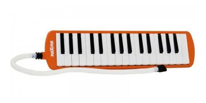 Melodica 32 Teclas Naranja 2 1/2 Octavas Con Estuche EXML011