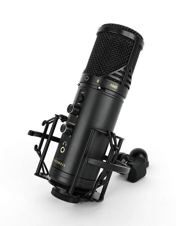 Microfono Kurzweil para estudio de grabacion KM-1U Negro