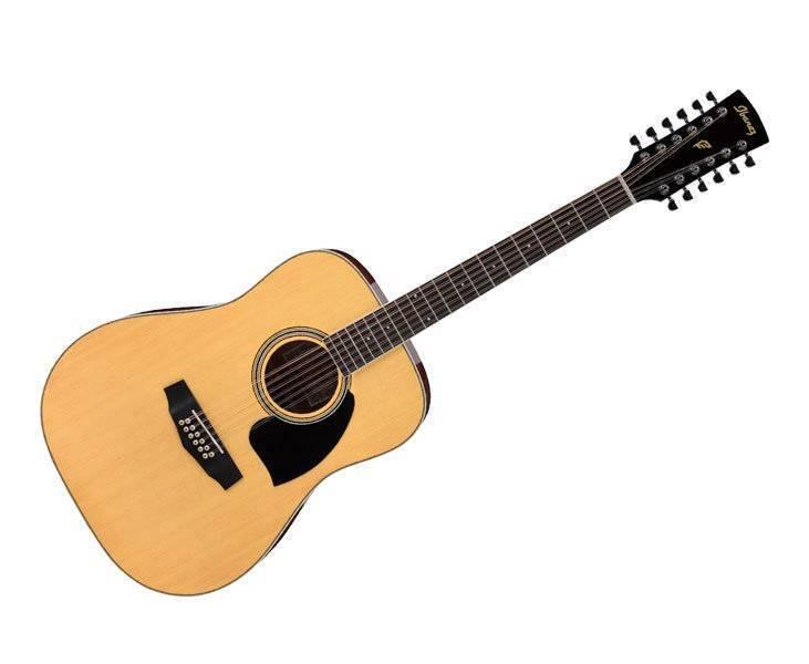 Guitarra Acústica De 12 Cuerdas  Ibanez Natural, Performance
