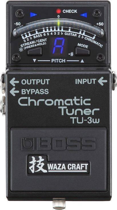 Pedal Afinador Cromático de pedal  Waza Craft negro TU-3W