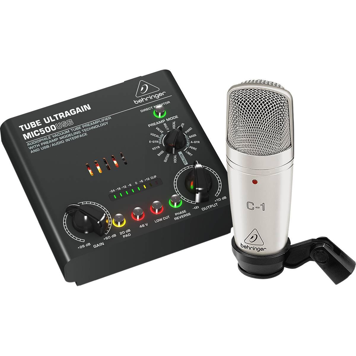 SISTEMA BEHRINGER GRABACION VOICE STUDIO