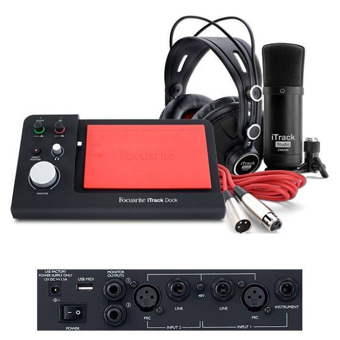 Interface Itrack Dock Studio Focusrite MOIS0007