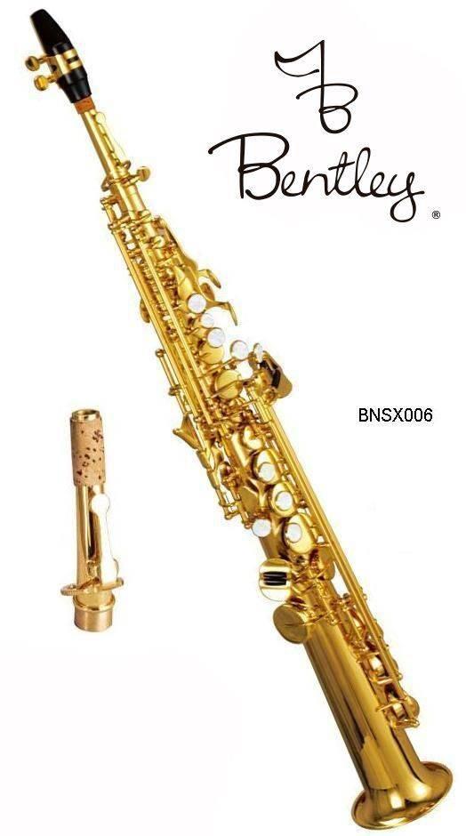 Saxofon Soprano Recto Bb Laqueado Dorado Bentley
