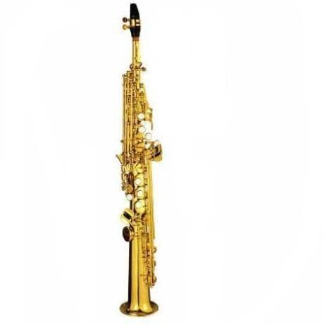 Saxofon Soprano Recto Doble Tono Laqueado Silvertone