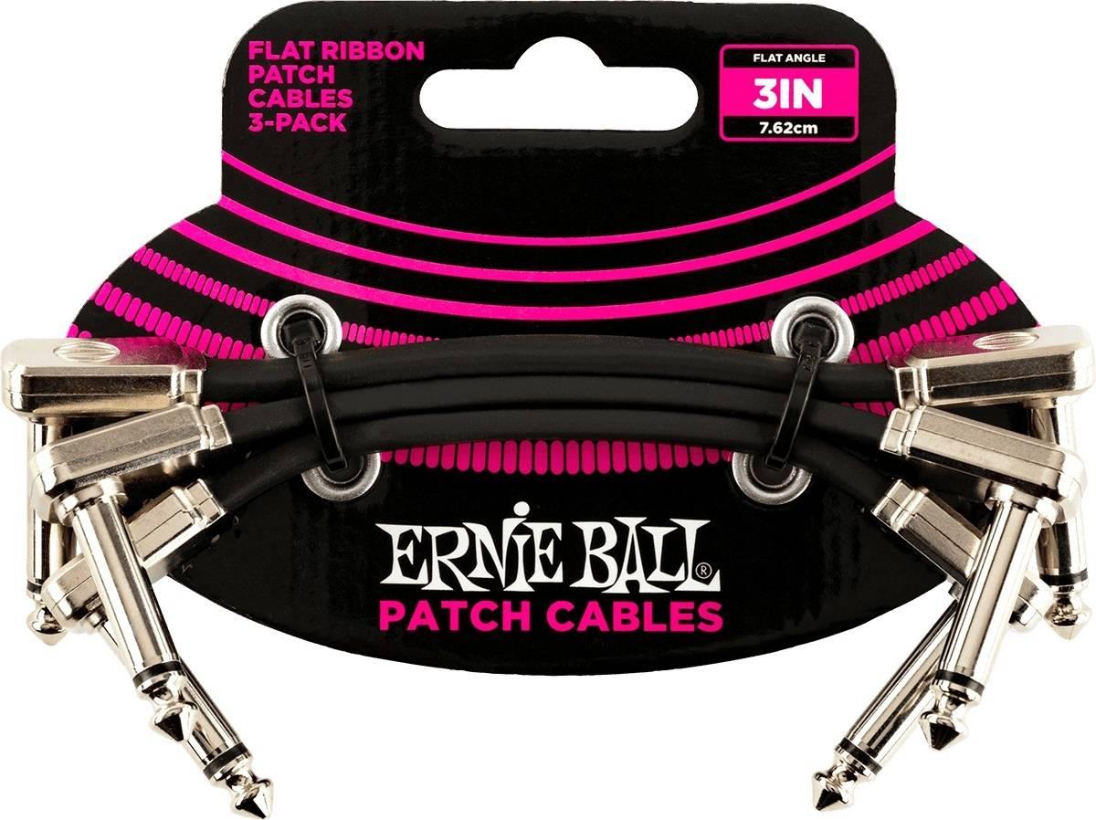 Cables Ernie Ball 15.24cm Negro (3 Pzas)