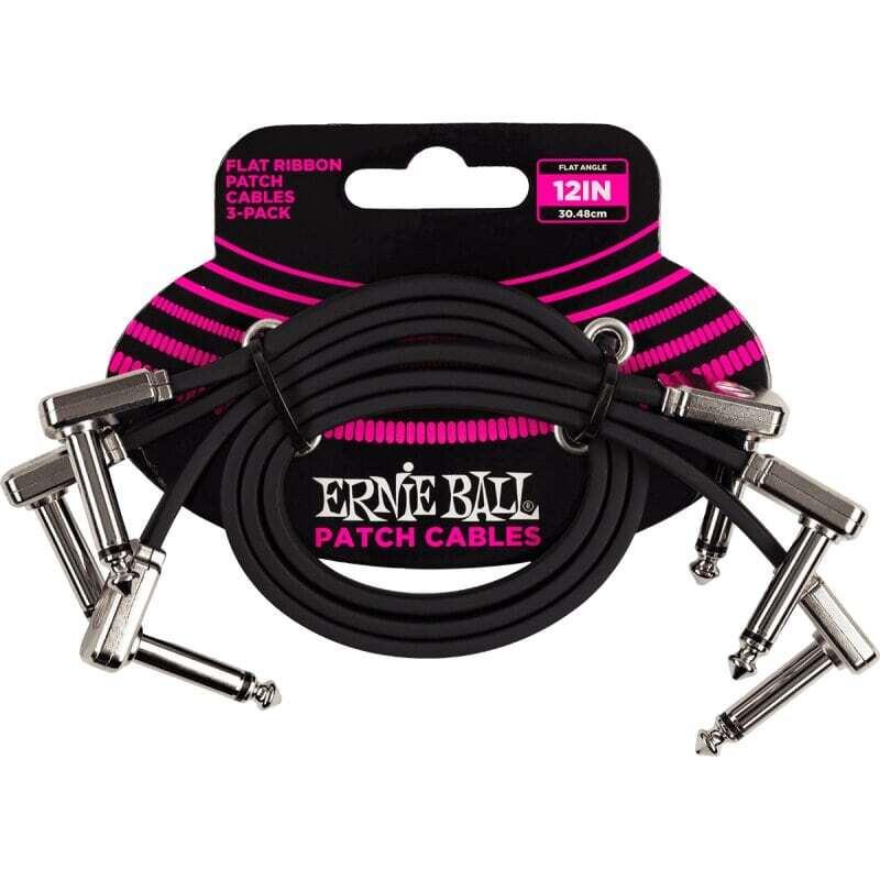Cables Ernie Ball 30.48Cm Negro (3 Pzas)