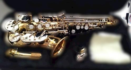 Saxofon Soprano Curvo Bb Combinado Lac-Niq 310L/N Century