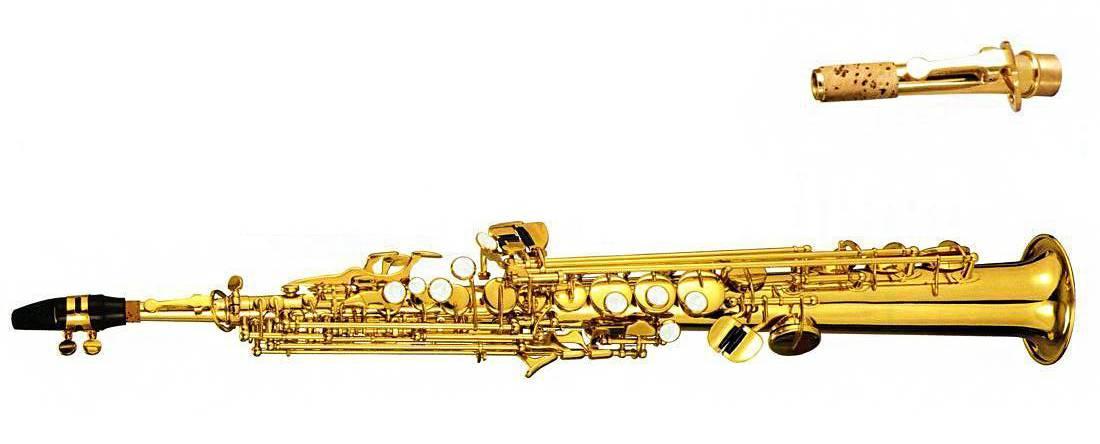 Saxofon Soprano Recto Bb Dorado T-400R Century