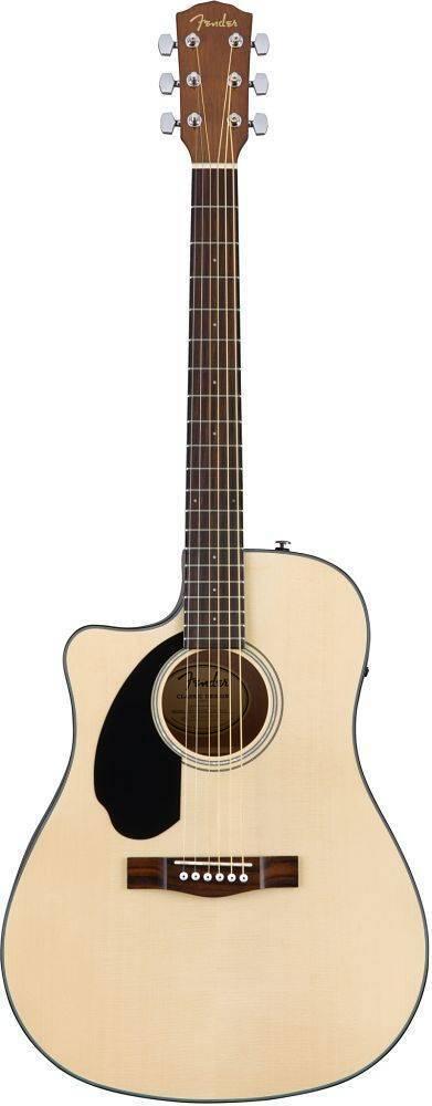 Guitarra Electroacustica Fender Cd-60SCE Zurda Lh Natural