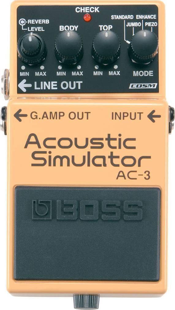 Pedal Efecto Boss Acoustic Simulator AC-3