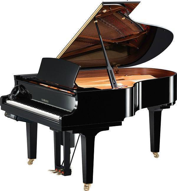 Piano de Cola Yamaha serie CX Disklavier de 173 centimetros (Skype + Remote play +Ipod/iphone control)