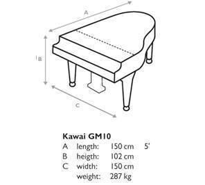 Piano de Cola Kawai GM-10 de 149 Centimetros