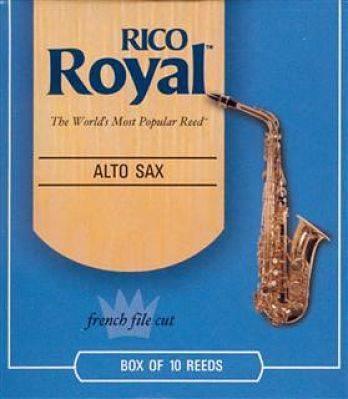 CAJA DE 10 CAÑAS RJB1025(10) SAX ALTO 2 1/2 RICO ROYAL(SARR2-1/