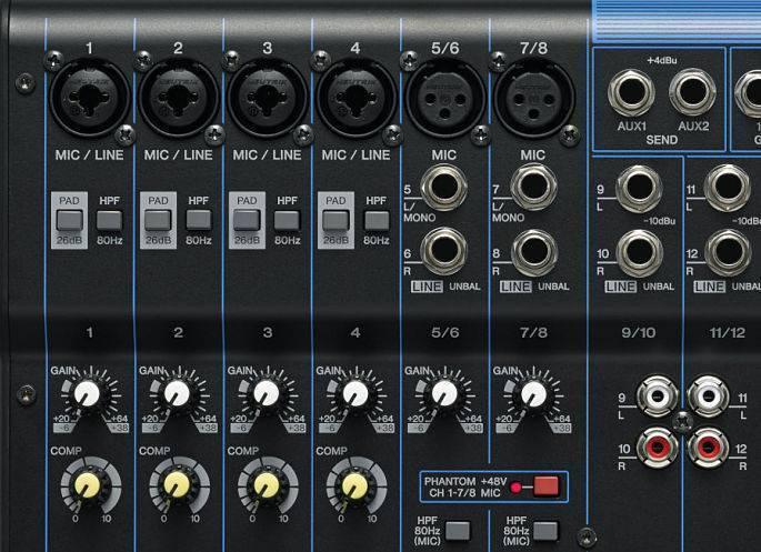 Mezcladora 12 canales Yamaha MG12