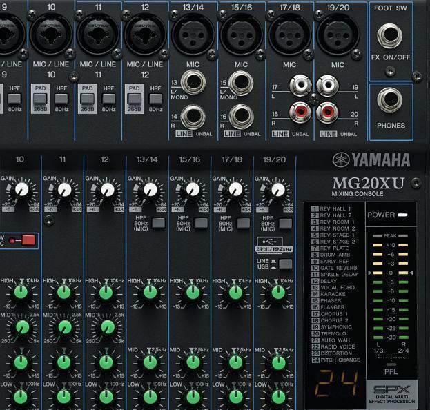 Mezcladora YamahaMG20XU con USB