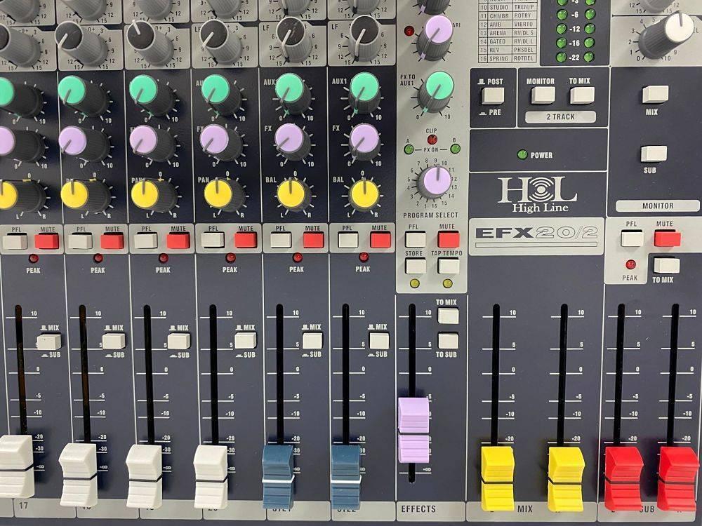 Mezcladora HL de 20 canales con efectos