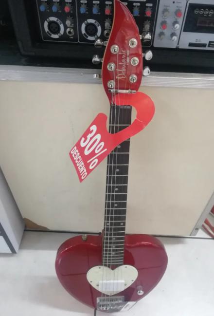 Guitarra Electrica  Daisy Rock 14-7013 Forma De Corazón *outlet*