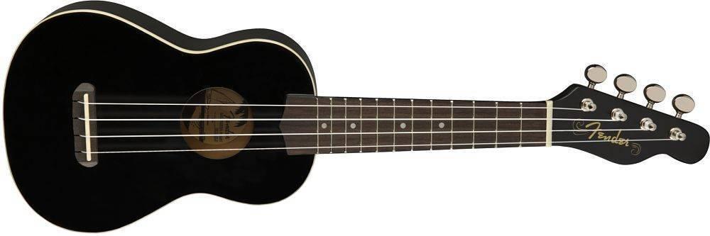Ukulele Fender Venice Soprano Ukulele Negro