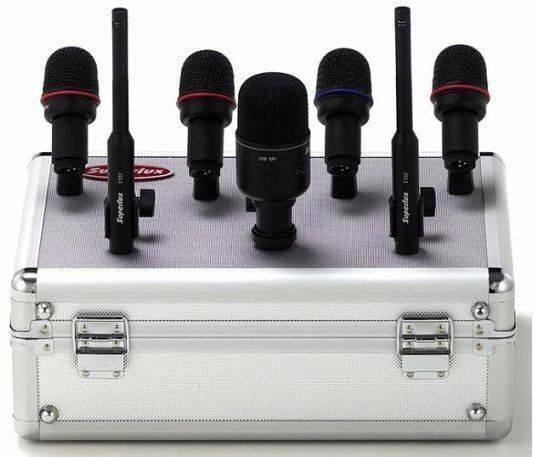 Set de 7 Microfonos Super Lux para Bateria /Cables /Clamps/Estuche