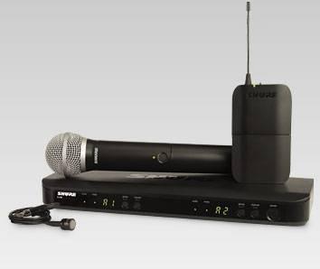 Microfonos Inalambrico Doble Shure BLX1288/CVL Diadema