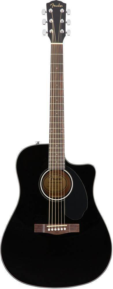 Guitarra Fender Electroacustica CD-60SCE Negra 0970113006
