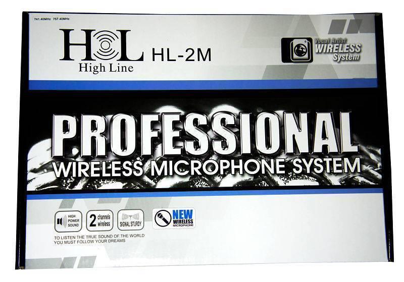 HL-2M Sistema Inalámbrico Doble de Mano HIGH LINE
