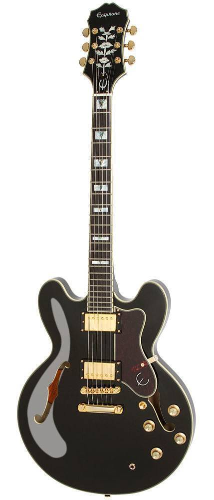 Guitarra Epiphone Sheraton-II Pro Negra