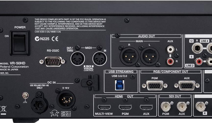 Mezcladora de video Roland VR-50HD 4 canales HDMI
