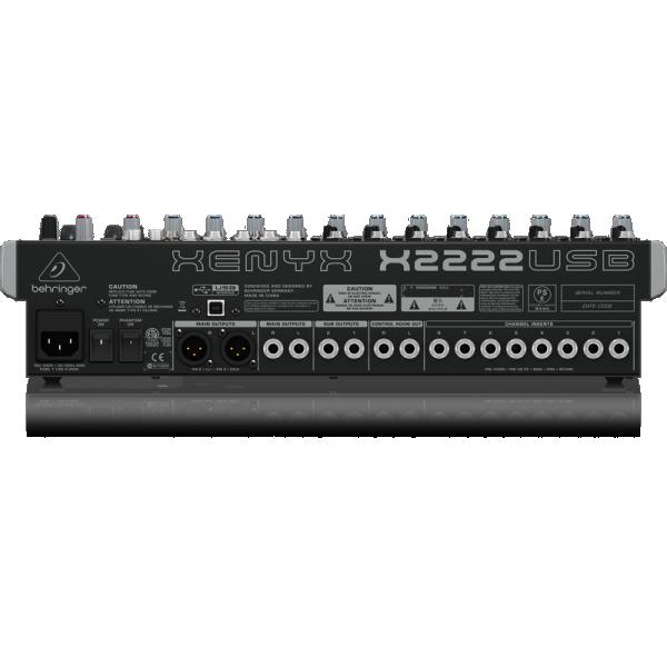 Mezcladora Beheringer 16 Ch con efectos y USB