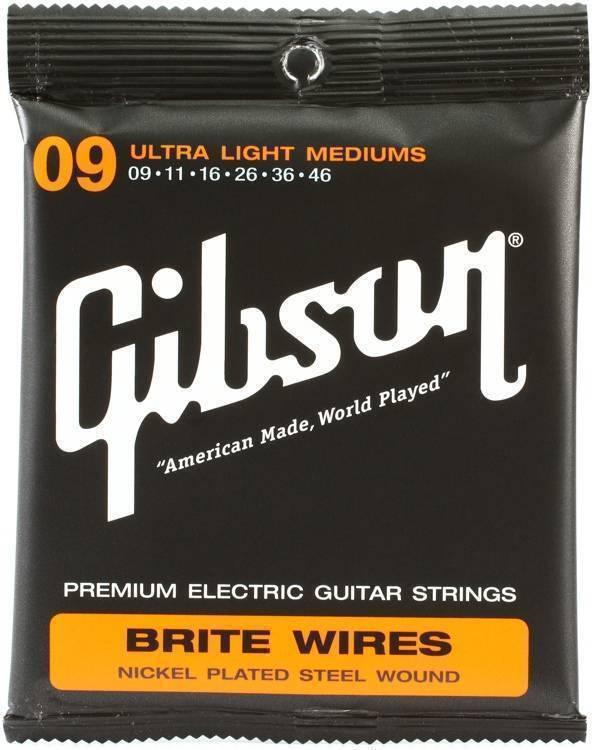 Cuerdas Guitarra Electrica Gibson Brite Wires 009-046