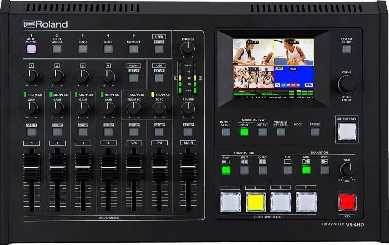 Mezcladora de Video Roland VR-4HD de video con efectos